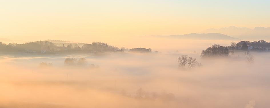 Nebelstimmung in Dämmerungslicht, Foto: Andreas Mühlleitner